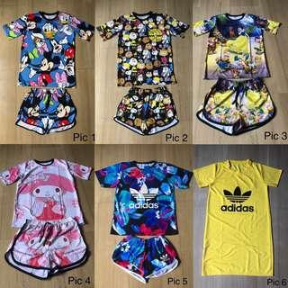 BNIP Adidas/Cartoon Top Bottom Set