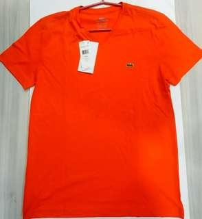 Authentic Lacoste Pima Cotton Jersey Vneck Shirt