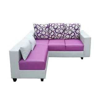Sofa l bisa kredit promo bunga 0% dp 0%