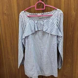 NEW H&M Stripe Blouse