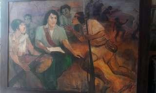 Lukisan Dekorasi Hendra *copy. uk 230 x 160 cm (bingkai)