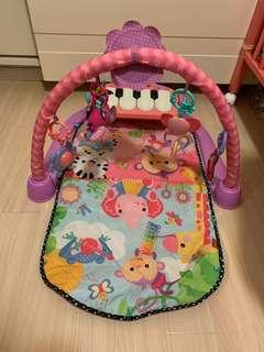Fisher Price粉色琴琴健身架器 BMH48 bb 玩具