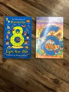 Puffin books of stories  for 6-yr old & 8-yr okd