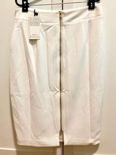 Brand New Beige Office Pencil Skirt
