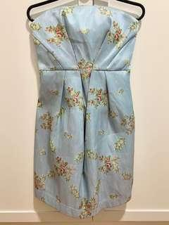 Brand New Floral Tube Dress ( With Tag )