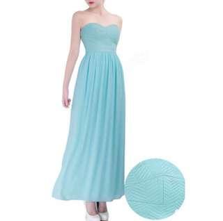 Long turquoise dress