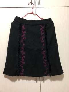 Pe:tite size s black Skirt 黑色半截裙