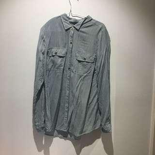 thin button up
