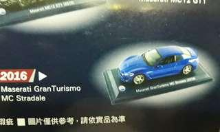 🚚 MASERATI 比例1:43 模型車 2016藍色款