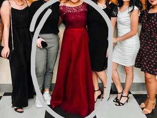 FOR RENT ELEGANT MAROON LONG GOWN