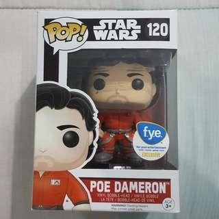Legit Brand New With Box Funko Pop Star Wars Poe Dameron X-Wing Jumpsuit Toy Figure FYE For Your Entertainment Exclusive