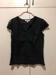 Vertical club size s black top 黑色上衣