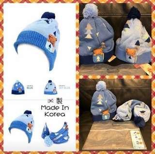 🇰🇷韓國Momoailey兒童頸巾冷帽2合1