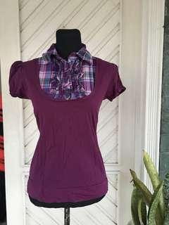 Purple Blouse (S-M fit)