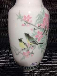 醴陵羣力釉下花鳥并H21cm