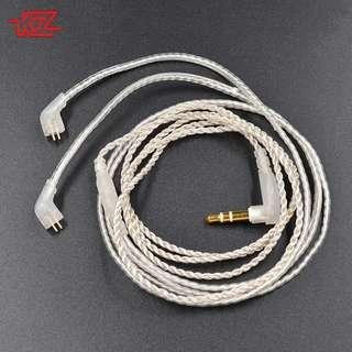 KZ silver plated detachable cable without mic