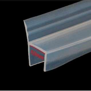 Shower glass H-type door seal