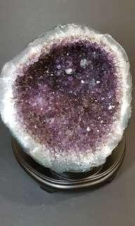 Amethyst Bowl with Rutilite