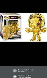 Funky POP Marvel 10th anniversary Star Lord Gold Chrome