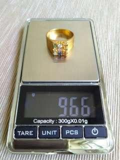 7 Dimension 916 Gold Ring