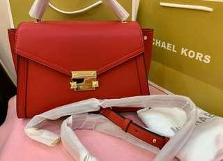 AUTHENTIC MICHAEL KORS WHITNEY SATCHEL BAG  WITH LONG STRAP
