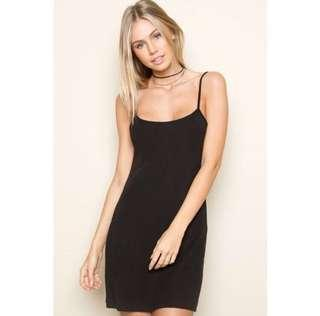 brandy melville black elsey dress