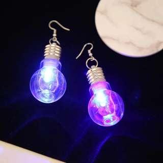 Fairlights glow light bulb earrings