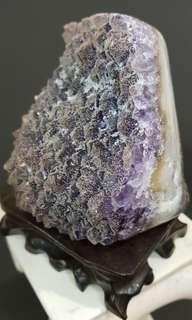 Amethyst Slab with 2nd Crystalisation