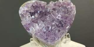 Amethyst Heart with pointers (See through)
