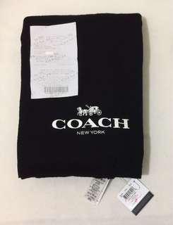 🚚 🌺只賣正品🌺 專櫃款 Coach 54222 AIRPLANE WRAP 黑色100 % Wool純羊毛圍巾