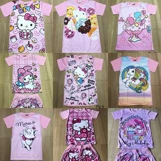 BNIP Girl Shirt Bottom Pink Hello Kitty