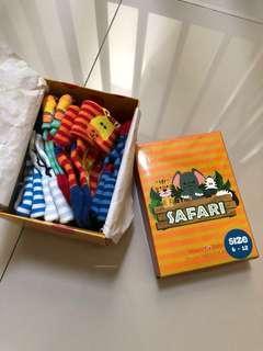 Kaos Kaki Baby Socks Merk Happy Baby tema Safari Animal