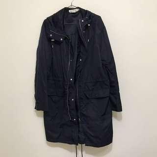 🚚 H&M 長版風衣外套