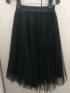 Elegant Black Tulle Skirt