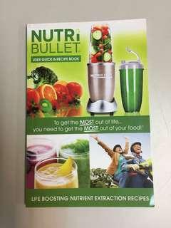 #BlackFriday100 Nutri Bullet User Guide & Recipe Book