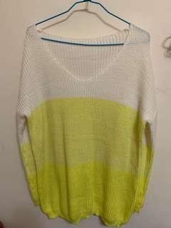 漸層黃色針織衣 毛衣