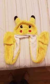 Pikachu winter beanie with attached gloves