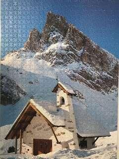1000 piece puzzle - mountain church