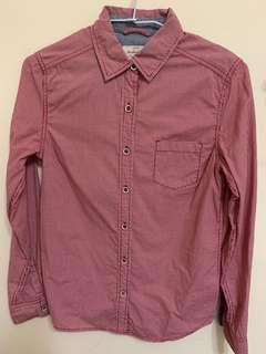 粉色小格子襯衫