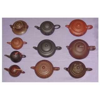 一標大小共十支茶壺 一個價
