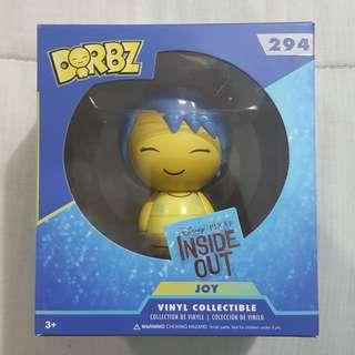 Legit Brand New With Box Funko Dorbz Disney Pixar Inside Out Joy Toy Figure