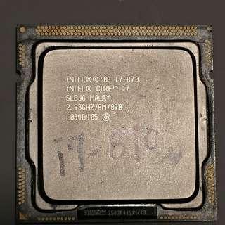 Intel CPU i7  870 連風扇