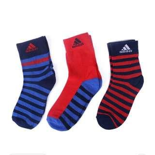 🚚 全新 adidas 嬰幼童襪子 三雙一組