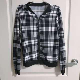 checkered plaid jacket