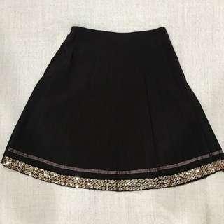 Dark brown skirt with sequins  #BlackFriday100