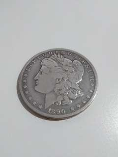 Morgan Dollar 1890 Silver