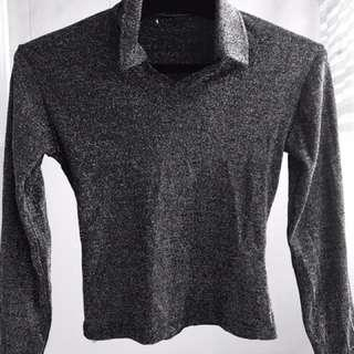 Sale Stylish Long sleeves shimmery top