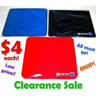 Mousepads (Good Quality at very Affordable prices) *CLEARANCE SALE! Special Price offer at less than $5 now! Limited Stock! BNIP!*