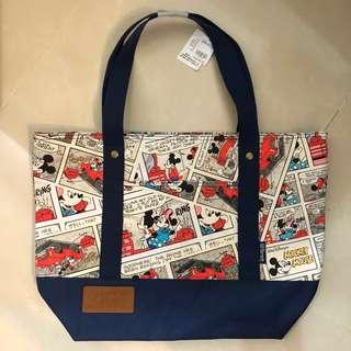 迪士尼 正品 米奇老鼠 美妮 漫畫 實用袋 Disney Mickey Minnie Mouse Bag 中學生單肩 聖誕禮物 交換禮物