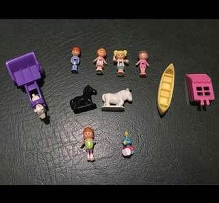 Vintage Polly Pocket Dolls and figures
